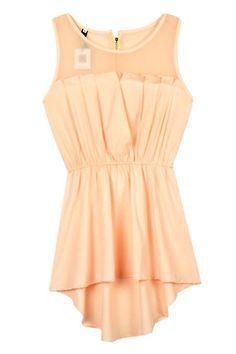 Mesh Insert Hi Lo Waisted Dress