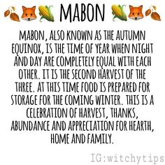 """✨ Witchy Tips ✨ (@witchytips) on Instagram: """"This year Mabon is on September 22nd. What will you do to celebrate? Tons more posts coming! Mabon…"""" Wiccan Sabbats, Wicca Witchcraft, Magick, Mabon, Samhain, Autumnal Equinox, Eclectic Witch, Baby Witch, Modern Witch"""