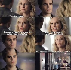 #TVD 6x07 Difficult times between Caroline and Stefan #Steroline