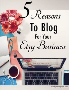 Let me share a little secret with you: I've had my Etsy shop for over five years… but it didn't really start to get active until about two years ago. About a year ago I started to think about blogging for my Etsy business...