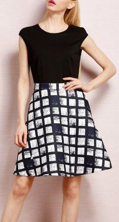 A Line Plaid Dress