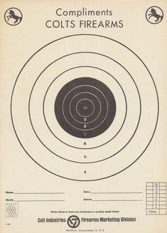 Items similar to Mid Century Colt Firearm Paper Match Target, Rampant Colt Emblem on Etsy Shooting Guns, Shooting Range, Pistol Targets, Archery Targets, Revolver, Paper Shooting Targets, Bullet Casing Crafts, Bow Target, Target Image