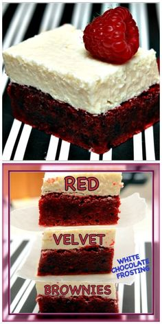 RED VELVET BROWNIE WITH WHITE CHOCOLATE FROSTING