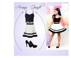"""#1 Ariana Grande"" by katyjuarez on Polyvore featuring moda y Lipsy"