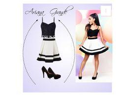 """#1 Ariana Grande"" by katyjuarez on Polyvore featuring moda y Lipsy"