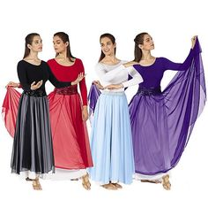 Image detail for -39746 Single Overlay Elastic Waist Christian Dance Skirt