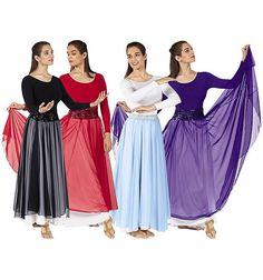 Image detail for -39746 Single Overlay Elastic Waist Christian Dance Skirt