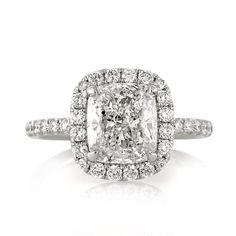 3.47ct Cushion Cut Diamond Engagement Ring