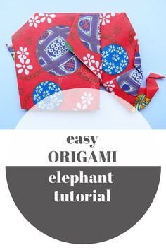 easy origami elephant - this is so simple - you can do it! #kids #crafts