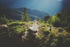 Mountain wedding - love the height from above - Kyle