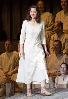 "Marion Cotillard in the title role of Honegger's ""Jeanne d'Arc au Bûcher"" presented Wednesday night (06/11/2015) by the New York Philharmonic"