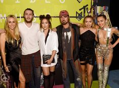 Tish Cyrus, Braison Cyrus, Noah Cyrus, Billy Ray Cyrus, Brandi Glenn & Miley Cyrus from 2015 MTV Video Music Awards Red Carpet Arrivals  The Cyrus family is front and center to support Miley.