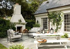 Outdoor Living Space Inspiration - Mindfully Gray