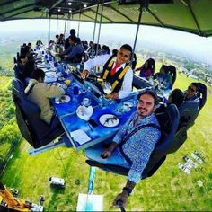 Dinner in the Sky Restaurant, Mexico Vacation Places, Dream Vacations, Places To Travel, Places To Visit, Vacation Destinations, Sky Restaurant, Dinner In The Sky, Shocking Facts, Adventure Travel