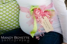 mommy to be corsage.do this at the baby shower instead of the dumb hats @Melinda Sylvester