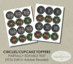 Ugly Sweater Party Kit  INSTANT DOWNLOAD  Circles Food