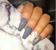 Different shades of gray nails different shades of gray nails grey coffin nails fall color fifty . different shades of gray nails . Marble Acrylic Nails, White Acrylic Nails, Gray Nails, Glitter Acrylics, Acrylic Gel, Acrylic Colors, Acrylic Nails For Fall, Pretty Nail Designs, Colorful Nail Designs