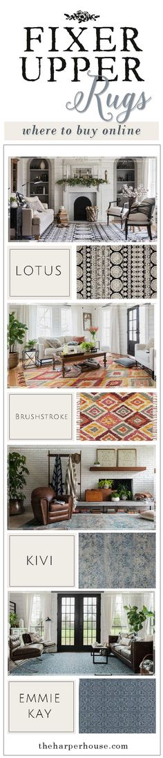 Fixer Upper Rugs: where to buy online |  * fixer upper style * Joanna Gaines * home decor * interior design * affordable rugs * farmhouse style