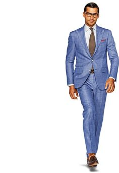 Suit Blue Check Washington P3308i | Suitsupply Online Store