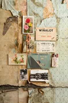 Gorgeous collage and moodboard of found textures and images. Love the vintage feel of this. Pantone Cards, Mode Portfolio Layout, Decoupage, Inspiration Boards, Color Inspiration, Travel Inspiration, Fashion Inspiration, Moodboard Inspiration, Grafik Design