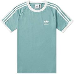 Buy the Adidas 3 Stripe Tee in Vapour Steel from leading mens fashion retailer END. - only Fast shipping on all latest Adidas products Adidas Outfit, Adidas Shirt, Adidas Men, Pants Adidas, Fashion Wear, Mens Fashion, Fashion Rings, Adidas Retro, Adidas Design