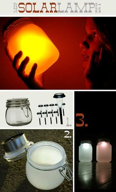 solar light mason jars, I need about a million of these. . .