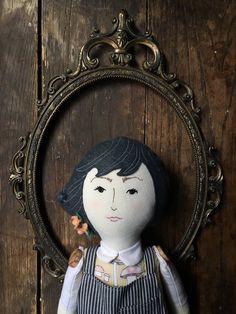 Nari - handmade linen, cotton, and wool heirloom cloth doll by BeardedFellas on Etsy https://www.etsy.com/listing/255051837/nari-handmade-linen-cotton-and-wool