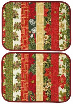 Christmas Gathering Quilt Digital Pattern - Make them in quilt-as-you-go fashion on a sturdy form Christmas Sewing Projects, Christmas Quilt Patterns, Christmas Placemats, Christmas Crafts, Christmas Quilting, Fall Placemats, Modern Christmas, Scandinavian Christmas, Christmas Christmas