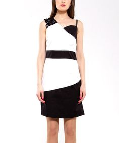 Take a look at this Black & White Week Dress - Women by Almatrichi on #zulily today!