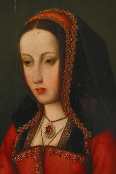 This image of Juana la Loca shows Renaissance fashion replacing late Medieval fashion. Tudor History, European History, Women In History, British History, Costume Renaissance, Renaissance Portraits, Renaissance Fashion, Costume Roi, Costumes