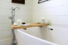 DIY Bathtub Tray | w