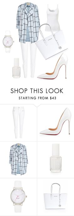 """""""White"""" by maniquen ❤ liked on Polyvore featuring River Island, Essie, Kate Spade, Michael Kors, women's clothing, women's fashion, women, female, woman and misses"""
