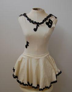 Vintage 1950s Music Note Majorette Costume