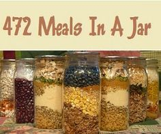 Louise's Country Closet: 472 Meals in a Jar.  Interesting idea, need to go through these.