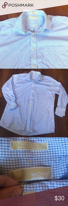 Michael Kors button down Men's white & blue. Never worn but was washed Michael Kors Shirts Dress Shirts