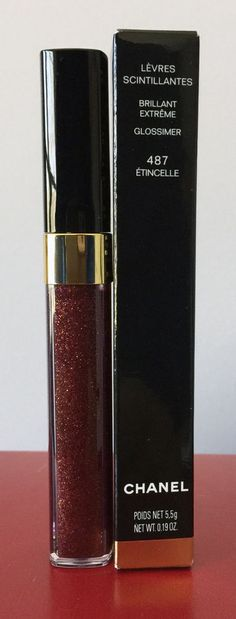CHANEL LÈVRES SCINTILLANTES GLOSSIMER – Étincelle #487 • Brand New In Box #CHANEL