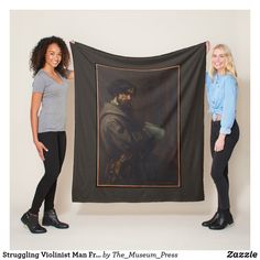 Shop Struggling Violinist Man French Master Painting Fleece Blanket created by The_Museum_Press. Gustave Courbet, Picnic In The Park, Edge Stitch, Outdoor Events, Wedding Announcements, Cuddling, Greeting Cards, Vibrant, Cozy