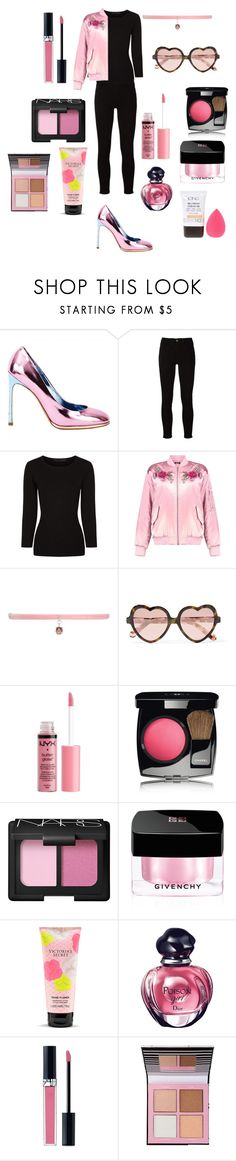 """Patent Metallic Pink Pumps"" by dazzlers ❤ liked on Polyvore featuring Yves Saint Laurent, Frame, Alexander Wang, Boohoo, Joomi Lim, Cutler and Gross, Charlotte Russe, Chanel, NARS Cosmetics and Givenchy"