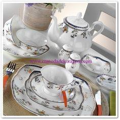 Kütahya Porselen Bone China 44 Parça Kahvaltı Takımı Tea Cups, Tableware, Grim Reaper, Dinnerware, Tablewares, Dishes, Place Settings, Cup Of Tea