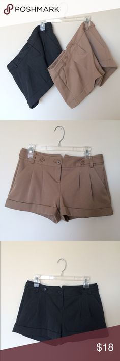 Pair of Trouser Shorts Same as previous listing! Get the pair for $18 • Size 2 • Like New Condition ⭐️ Tan • Charcoal Express Shorts