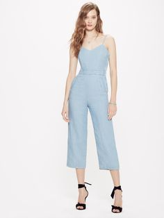 2ed413fd958 The Cut It Out Jumpsuit - Songbird Chambray Jumpsuit