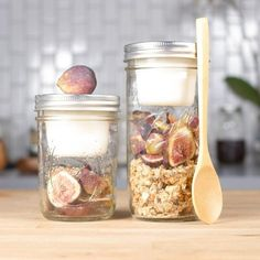 Breakfast in a Mason Jar! Separate Wet and Dry Ingredients in a Mason Jar with BNTO by Cuppow!