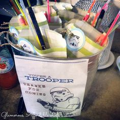 Party favors for a Star Wars Birthday Party