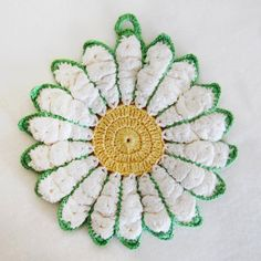 Picture of Vintage Floral Potholders Crochet Patterns