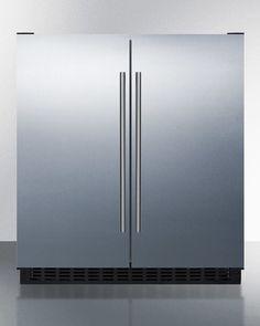 """Summit FFRF3075WSS 30"""" 5.4 CuFt French Door Refrigerator Freezer Stainless Steel · $1,849.18 Summit Refrigerator, Side By Side Refrigerator, Compact Refrigerator, French Door Refrigerator, Undercounter Refrigerator, Stainless Steel Refrigerator, Stainless Steel Doors, Mini Fridge With Freezer, Refrigerator Freezer"""