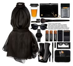 """""""Black Outfit"""" by emcf3548 ❤ liked on Polyvore featuring Alexander McQueen, Brandon Maxwell, Duracell, Filson, Elizabeth Arden, Yves Saint Laurent, Topshop, Mulberry, NYX and Inglot"""