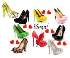 """PUMPS! i <3 shoes"" by jitterbugj ❤ liked on Polyvore featuring KG Kurt Geiger, Christian Louboutin, Giuseppe Zanotti and Nicholas Kirkwood"