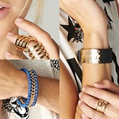 armparty swag !!! see the entire collection at WWW.SHOPPUBLIK.COM #ARMPARTYSWAG #OUTFITINSPIRATION #ACCESSORIES #PUBLIK #SHOPPUBLIK #RINGS #BRACELETS #GOLD #BLUE #BLACK #CAGERINGS #FRIENDSHIPBRACELETS #CHIC #SEXY #CUTE #STYLE #FASHION #FASHIONSTYLE #FASHIONISTA #FASHIONTREND #FASHIONFORWARD #FALLFASHION