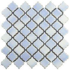 """EliteTile Pharsalia 2"""" x 2.25"""" Porcelain Mosaic Tile in Frost…"""