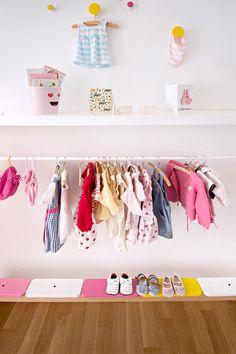 DIY Garderobe für Mädchen